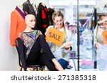 shopkeeper working at promotion ... | Shutterstock . vector #271385318