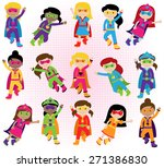 collection of diverse group of... | Shutterstock .eps vector #271386830