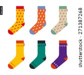 set of socks with flash pattern ... | Shutterstock .eps vector #271387268