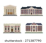 detached houses on a white... | Shutterstock .eps vector #271387790