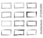hand drawn square frames  black ... | Shutterstock .eps vector #271391090