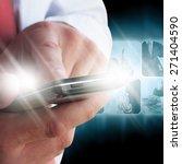 businessman pressing business... | Shutterstock . vector #271404590