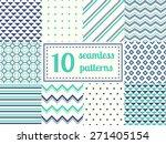 set of ten seamless patterns in ... | Shutterstock .eps vector #271405154