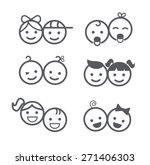 kids icons set  boys and girls  ... | Shutterstock .eps vector #271406303