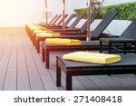 Sun Bed Beside Swimming Pool....