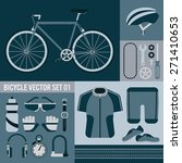 bicycle vector set 01 | Shutterstock .eps vector #271410653