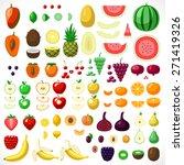 major fruit collection on white ... | Shutterstock .eps vector #271419326