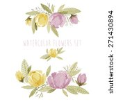 watercolor flowers set. can be... | Shutterstock .eps vector #271430894