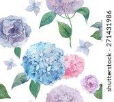 Watercolor Hydrangea And...