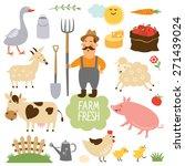 set of vector illustration of... | Shutterstock .eps vector #271439024