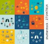 medicine flat infographic | Shutterstock .eps vector #271447814