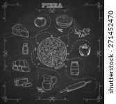 pizza recipe. ingredients for... | Shutterstock .eps vector #271452470