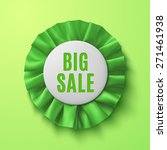 big sale  realistic green... | Shutterstock .eps vector #271461938