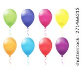 vector illustration of balloon | Shutterstock .eps vector #271466213