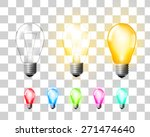 colored  glowing and turned off ...   Shutterstock .eps vector #271474640