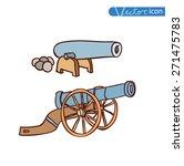 ancient cannon  vector... | Shutterstock .eps vector #271475783