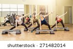 group of women making step... | Shutterstock . vector #271482014