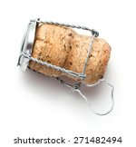 champagne cork on white... | Shutterstock . vector #271482494