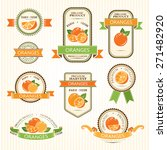orange labels. fruits badges... | Shutterstock .eps vector #271482920
