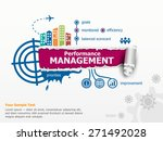 performance management and... | Shutterstock .eps vector #271492028