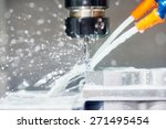 cnc metal working machine with... | Shutterstock . vector #271495454