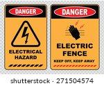 set of danger high voltage... | Shutterstock .eps vector #271504574