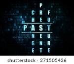 time concept  pixelated blue... | Shutterstock . vector #271505426
