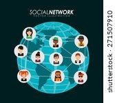 social network design  vector... | Shutterstock .eps vector #271507910