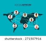 social network design  vector... | Shutterstock .eps vector #271507916