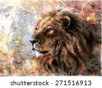Beautiful  Painting Of A Lion...