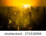 Shanghai Skyline In Sunrise ...