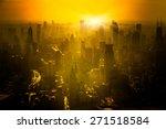 Shanghai Skyline In Sunrise ...