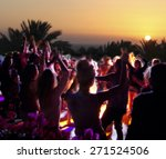 people have fun at night on a... | Shutterstock . vector #271524506