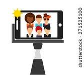 selfie concept design  vector... | Shutterstock .eps vector #271525100