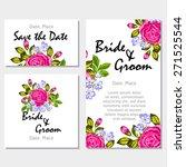 english rose. wedding... | Shutterstock .eps vector #271525544