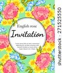 english rose. romantic... | Shutterstock .eps vector #271525550