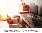 home office interior. vintage... | Shutterstock . vector #271529486
