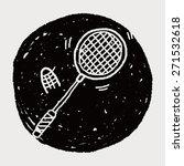 doodle badminton | Shutterstock . vector #271532618