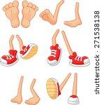 cartoon  walking feet  on stick ... | Shutterstock . vector #271538138