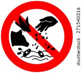 don't feed the animals sign... | Shutterstock .eps vector #271540316