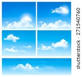 Five Backgrounds Of Blue Sky...