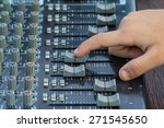 an expert adjusting audio... | Shutterstock . vector #271545650