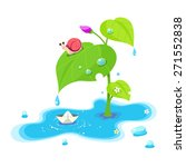 water puddle snail paper ship | Shutterstock .eps vector #271552838