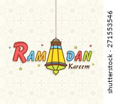 colorful text ramadan kareem... | Shutterstock .eps vector #271553546