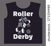 roller skate and roller derby... | Shutterstock .eps vector #271554989