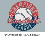baseball champions league... | Shutterstock . vector #271555634