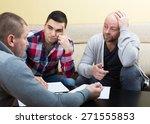 three men discussing financial... | Shutterstock . vector #271555853