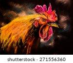 Original Oil Painting Of Orange ...