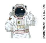 Astronaut Gesture Okay. Eps10...