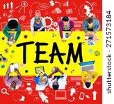 team teamwork support... | Shutterstock . vector #271573184